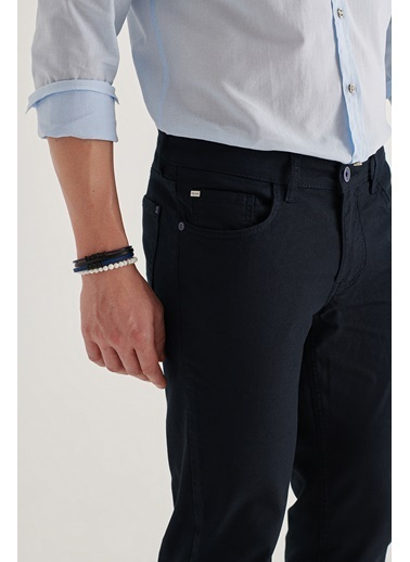 Avva  Erkek Antrasit 5 Cepli Armürlü Slim Fit Pantolon A11Y3031 Lacivert